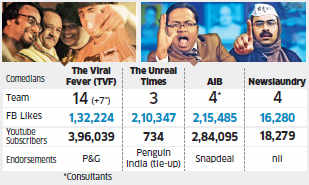 Small online outfits like TVF, AIB make a quick buck with political satires