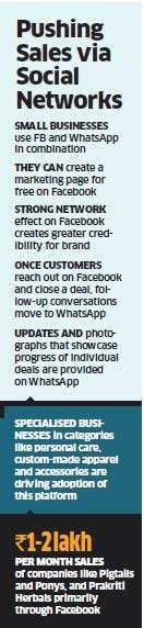 Small companies market themselves on Facebook and seal deals via WhatsApp