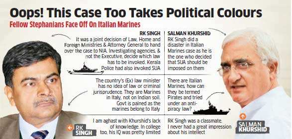 RK Singh hits back at government over claims in Italian marines case