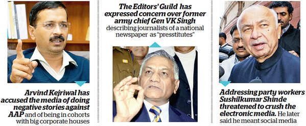 The recent media bashing by Kejriwal, Gen VK Singh and Shinde are not threatening. At best these attacks offer grist to the cartoonist's scalpel.
