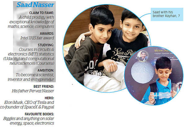 Nasser is a child. Yet he is unlike others of his age. When he was 1, he did not play with toys. Instead, he wanted to look inside toy cars and gadgets.