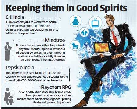 Companies like Mindtree, Marico, Pepsico eager to help employees strike a better work-life balance