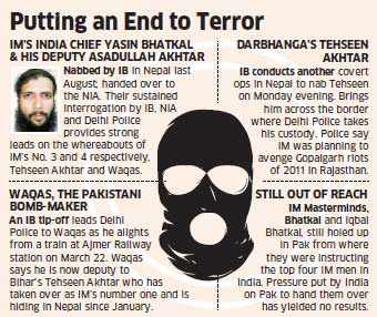 Intelligence Bureau nabs Tehseen Akhtar, foils Indian Mujahideen's motives
