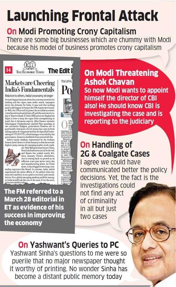Modi a promoter of crony capitalism: Chidambaram