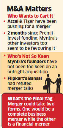 Flipkart, Myntra in merger talks