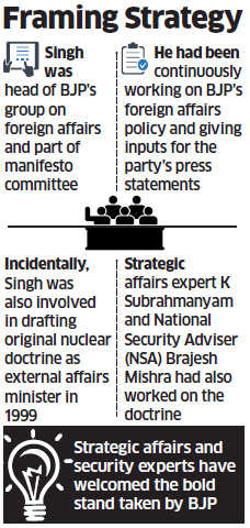 Jaswant Singh behind BJP's new nuclear doctrine