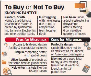 Micromax denies interest in Korean handset maker Pantech