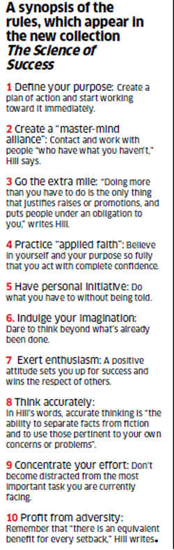 10 rules of success, the Carnegie way