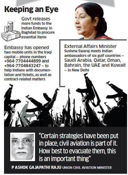 Iraq crisis: Two military planes on standby for evacuation of Indians