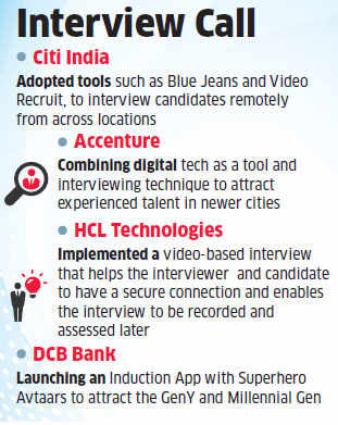 Companies like Citi, Accenture and HCL turning to mobile apps, social media to rope in best talent