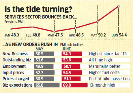 India's services PMI hits 17-month high in June
