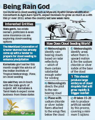Artificial rainfall: Cloud seeding companies may play rainmakers