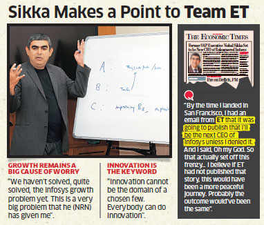 We have to solve Infosys' growth problem, says new CEO Vishal Sikka