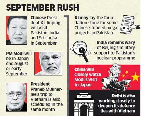 India, China to eagerly watch high-profile visits to neighbours