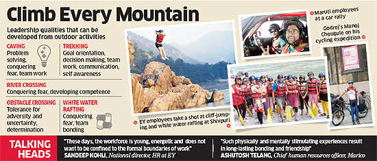 India Inc gives a push to staffers' adventure streak