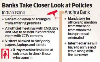 PSU banks cracking down on middlemen, who act as facilitators between lenders & borrowers