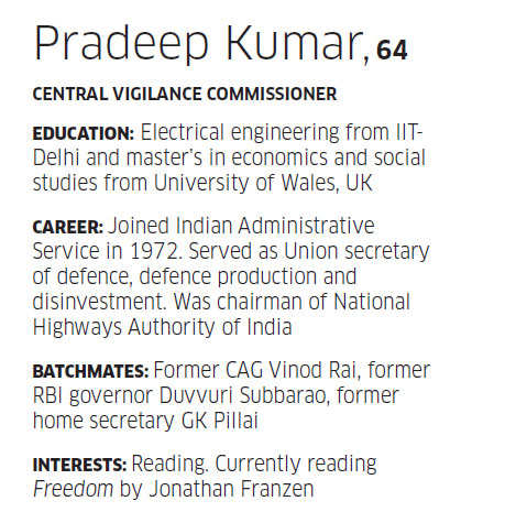 Sunday ET: The so-called power club is getting paralyze, says Pradeep Kumar, Central Vigilance Commissioner