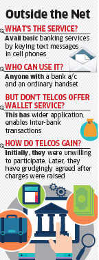 Telecom companies agree on basic banking services through SMSes