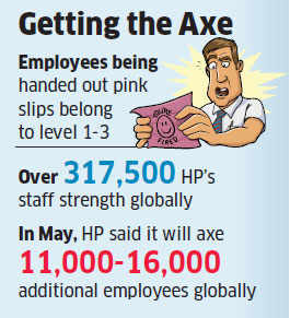 Hewlett Packard may axe 800 people in Bangalore after it loses grip on Bank of America account