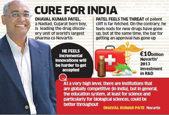 Lack of initiative in drug discovery ails India: Dhaval Kumar Patel, Novartis