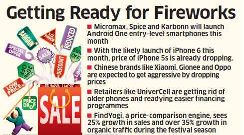Phone makers and retailers have more than one reason to celebrate this festival season.