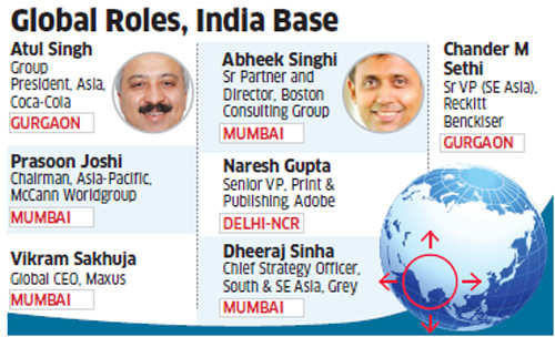 More and more desi honchos running their global operations from India
