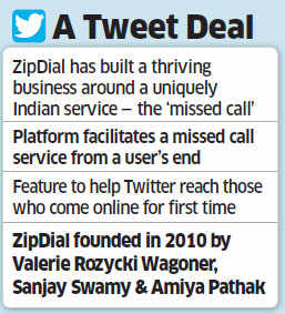Twitter buys Indian mobile marketing start-up ZipDial