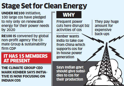 Indian companies may go green to meet power needs by 2020