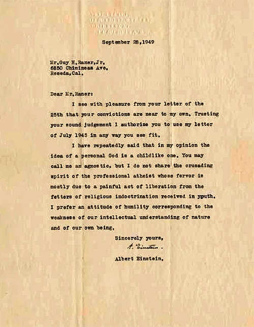 Have you read about the Einstein letter found recently and reported in the morning papers?