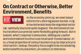 Fostering equality: Government may limit portion of contract workers in companies to 50%