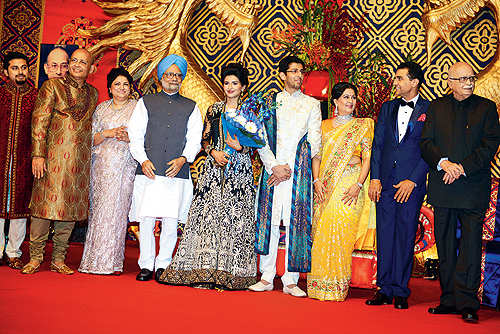 abhishek singhvis son weds vadilal groups aastha gandhi