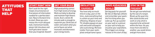 Work smarter and happier with these productivity boosting tips.