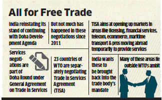 India set to push for liberalisation of services trade at WTO Geneva talks