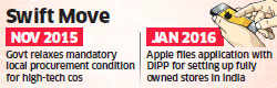 Apple seeks DIPP nod to open own stores; no mention of proposed investment