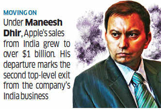 Following exit of Maneesh Dhir, Apple launches hunt for new India business head