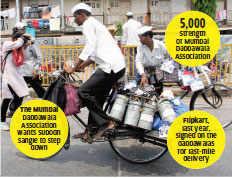 Mumbai's dabbawalas challenge Subodh Sangle who said the group plans to set up a delivery company