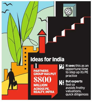 Swiss private equity investor Partners Group to bet up to $1 billion on India over 3-5 years
