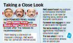 PMO displeased with Facebook's reaction to Trai's consultation paper