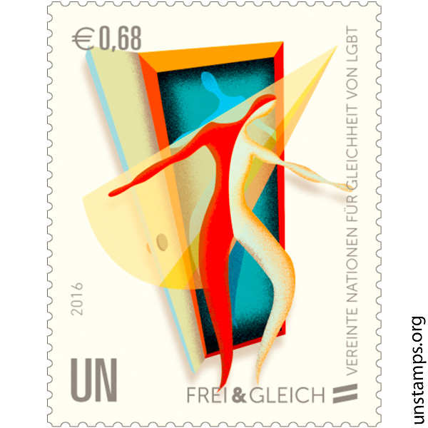 UN unveils stamps promoting equality for LGBT