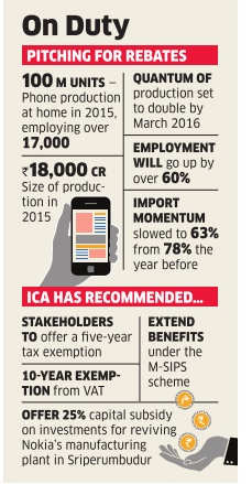 ICA seeks 5-year tax holiday for successor of Nokia's Chennai plant