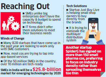 Business-to-business startups warm up to SMEs