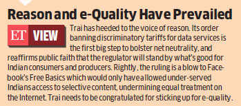 Win for Net Neutrality: Trai bans differential data pricing, prohibits Facebook's Free Basics