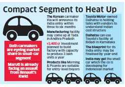 Kia,Daihatsu may enter Indian car market,likely to take on Maruti