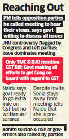 Government hopeful on GST as PM Narendra Modi reaches out to opposition