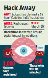 Code for India: EdCast plans a hackathon at Rashtrapati Bhavan