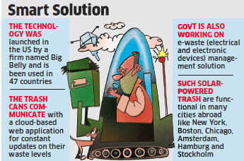 When Swachh Bharat met Digital India: Now solar-powered trash cans to send alerts when full