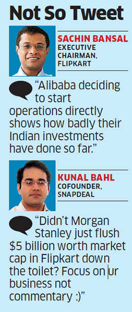 Flipkart, Snapdeal escalate online rivalry on social media over Alibaba's entry