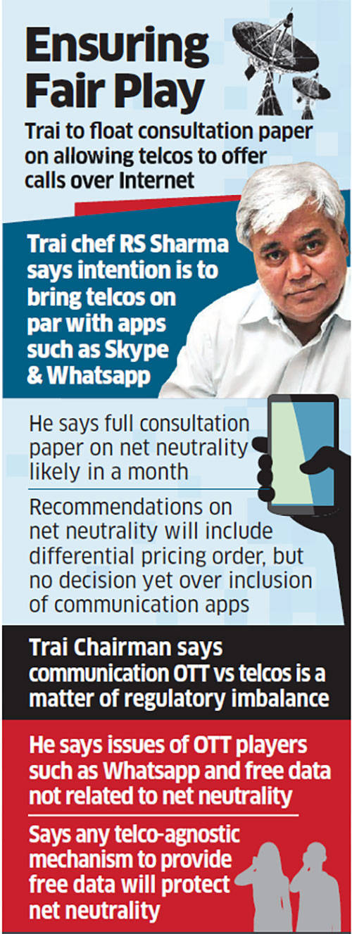 Trai may allow telcos to offer internet telephony services like WhatsApp, Skype