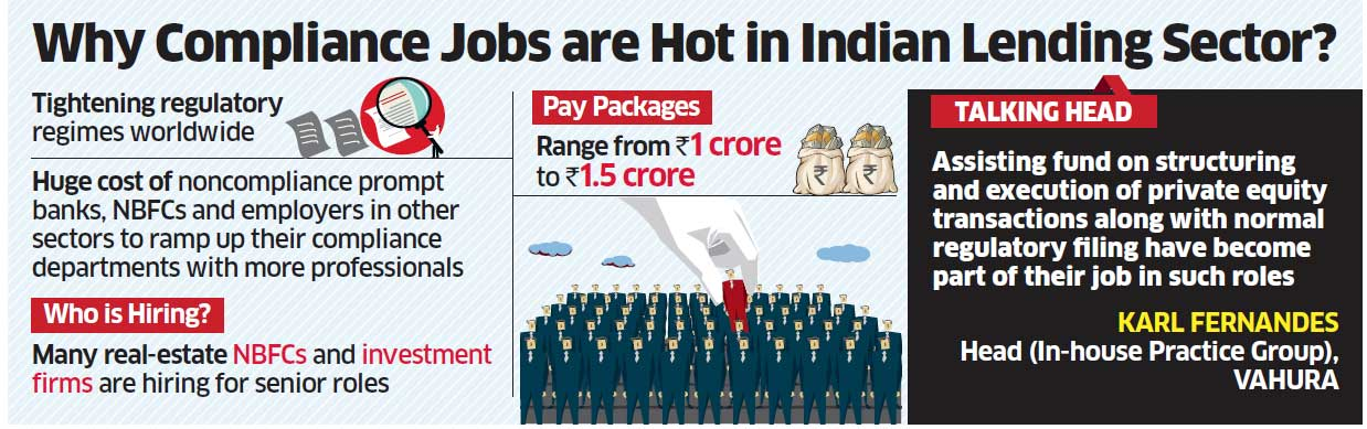 Why compliance jobs are hot in indian lending sector the economic times - Role of compliance officer in bank ...