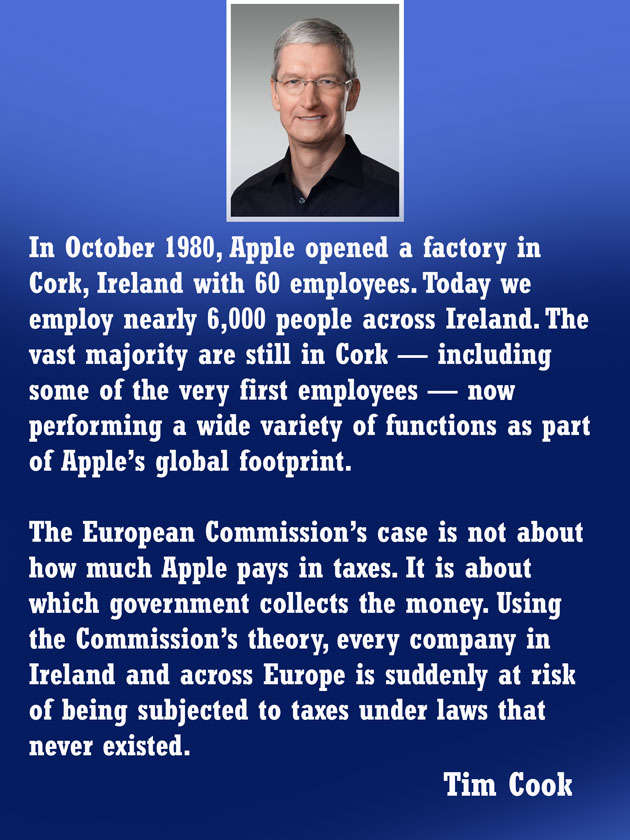 Tim Cook hits back at EU tax; writes open letter to Apple ...